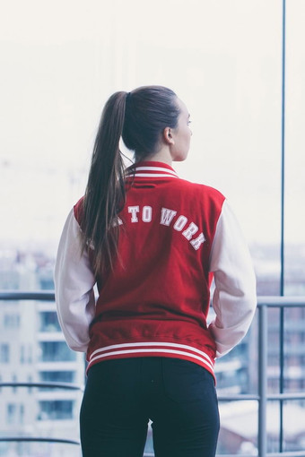Red Blitz Bomber Jacket
