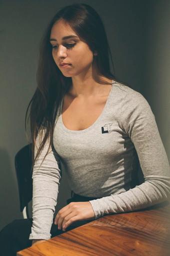 Grey Brigitte Blouse